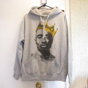 Tops - Tupac 2 Pac Notorious BIG Crown Sweatshirt Hoodie